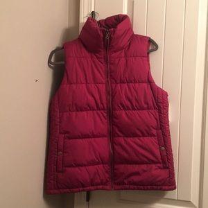 Cranberry puffer vest